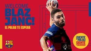 Blaz Janc reforzará el balonmano azulgrana en 2020