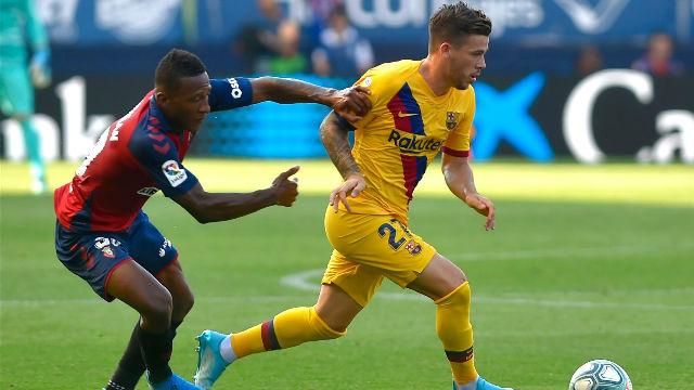 Carles Pérez tuvo la victoria del Barça en sus botas... pero desaprovechó la oportunidad