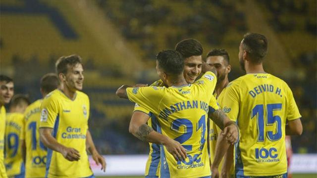 Cómoda victoria de Las Palmas frente al Numancia