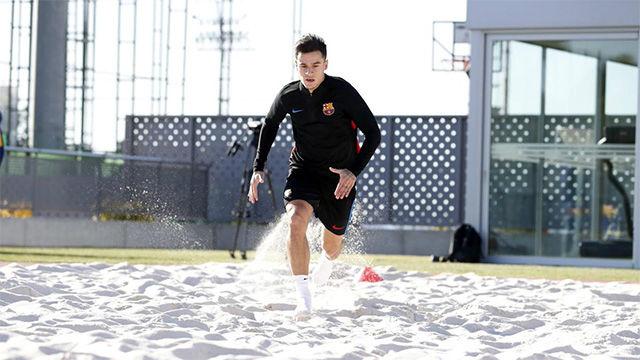 Coutinho se recupera de su lesión en la Ciudad Deportiva