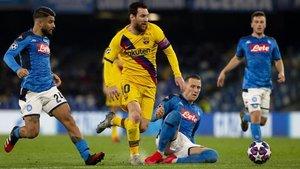 Debido a la ventaja del gol de visitante, el Barcelona se clasificaría de mantenerse estático el marcador global