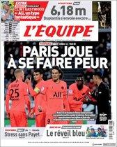 Esta es la portada de LEquipe del domingo 16 de febrero