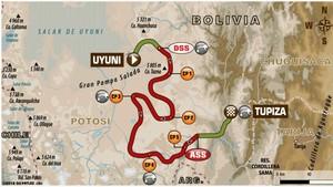 Este es el recorrido de la octava etapa del Dakar 2018