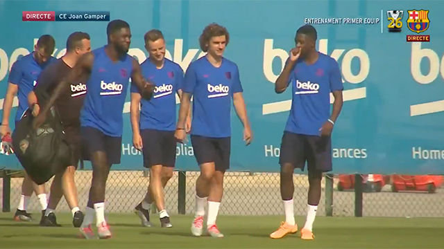 La french connection ya entrena de blaugrana