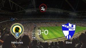 El Hércules muestra su poderío tras golear al Ebro (3-0)