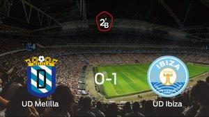 El Ibiza se queda con los tres puntos después de ganar 0-1 al Melilla