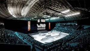 Imagen virtual del Sant Jordi en los World Roller Games 2019