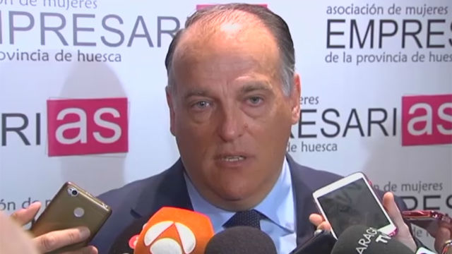 Javier Tebas: Cambiaría la legislación para suspender la final de Copa