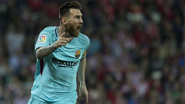 LALIGA | Athletic - FC Barcelona (0-2): El gol de Leo Messi