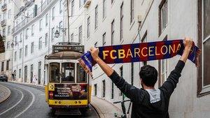 Las calles de Lisboa están prácticamente desiertas