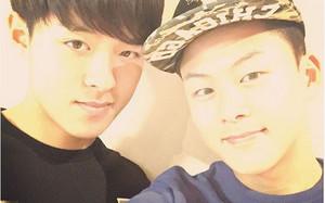 Lee ha dado la bienvenida al nuevo año con esta foto junto a su hermano
