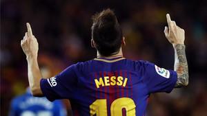 Leo Messi, ante el Espanyol