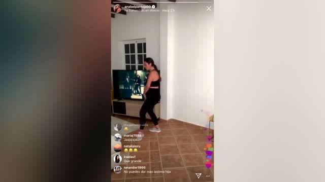 Los divertidos bailes de Anabel Pantoja durante el confinamiento