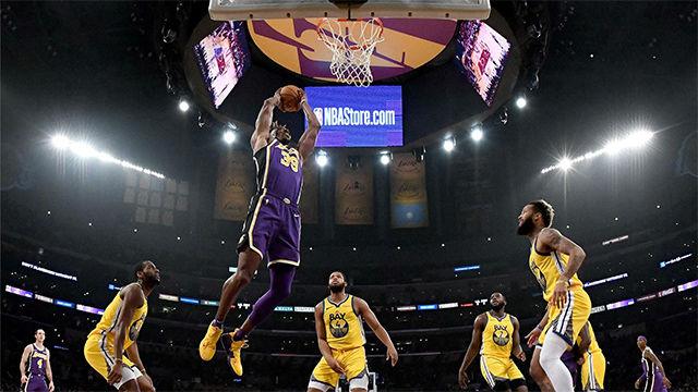 Los Lakers pasan por encima de los Warriors (120-94)