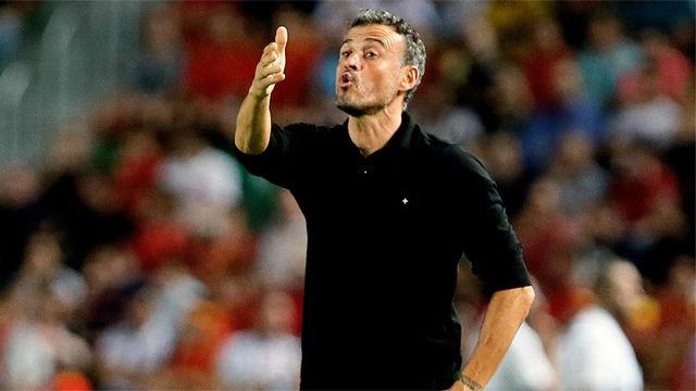 Luis Enrique, contento con la actitud de los jugadores