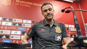 Luis Enrique, en la rueda de prensa previa al España - Noruega