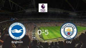El Manchester City se queda con los tres puntos frente al Brighton and Hove Albion (0-5)