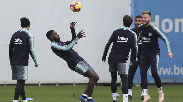 Messi y Umtiti vuelven a entrenar con el grupo