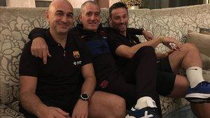 Miguel Andrés, Andreu Plaza y Jordi Illa, juntos en Bangkok