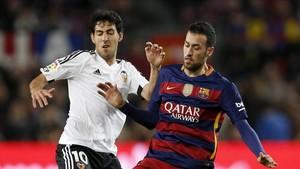Parejo, en un partido contra el Barcelona