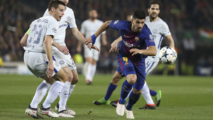 Partido de vuelta de octavos de final entre FC Barcelona, 3 - Chelsea, 0