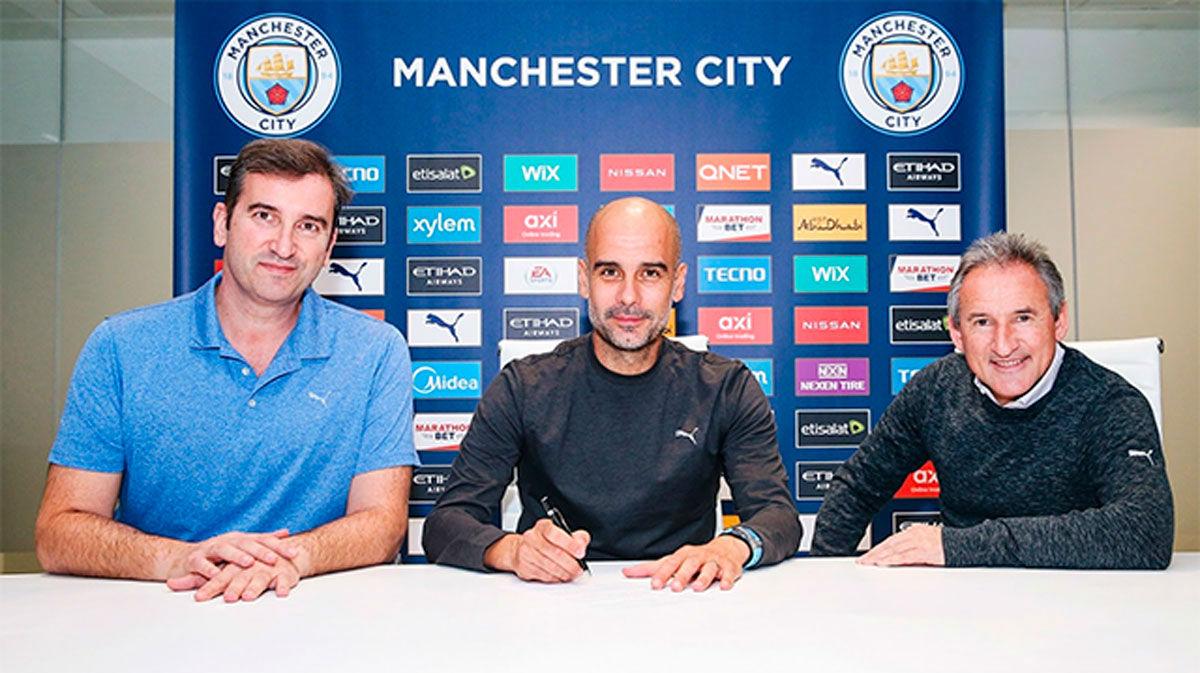 Pep Guardiola renueva con el Manchester City hasta 2023