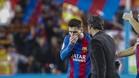 Quique acudió a Messi al final del partido