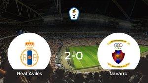 El Real Avilés consigue la victoria ante el Navarro (2-0)