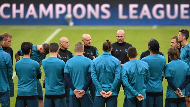 El Real Madrid entrenó en el Allianz Arena