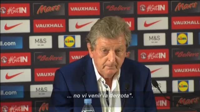 Roy Hodgson: Estoy realmente decepcionado, no vi venir la derrota