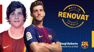 Sergi Roberto oficializó este jueves su renovación por el FC Barcelona