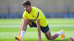 Trincao participó en el entrenamiento del Barcelona
