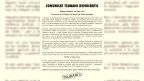 Tsunami pide al Barça que permita exhibir una pancarta en el Clásico