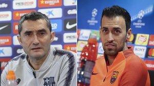 Valverde y Busuqets, en directo para hablar del Lyon - Barça