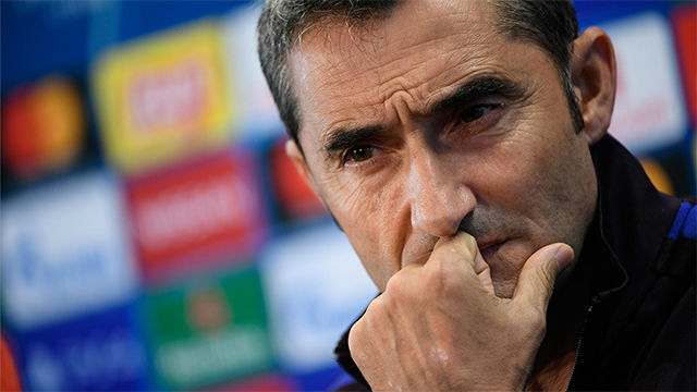 Barca coach Ernesto Valverde: We are under pressure after Slavia draw