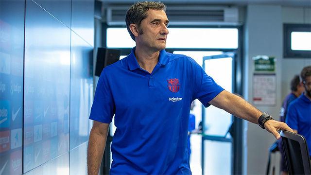 Valverde valoró el primer partido de Liga de Griezmann con la camiseta azulgrana