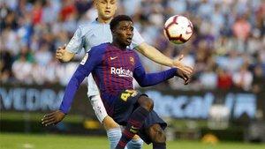 Wague en un reciente partido con el Barcelona ante el Celta