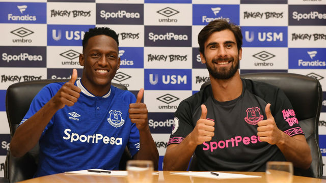 Everton complete deals for Mina and Gomes