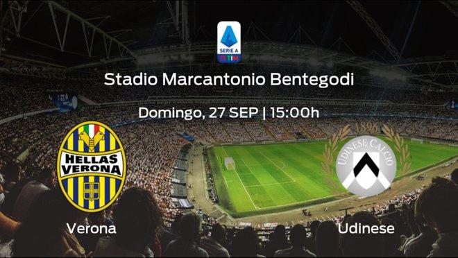 Jornada 2 de la Serie A: previa del encuentro Hellas Verona - Udinese