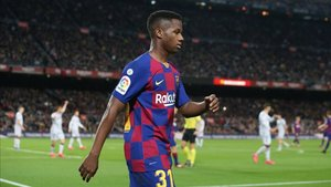 Ansu Fati marcó dos tantos al Levante