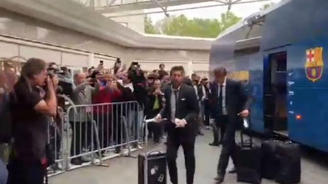 Así ha sido la llegada del Barça a Dortmund