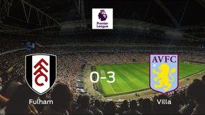 El Aston Villa se lleva la victoria tras golear 0-3 al Fulham