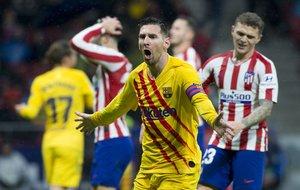 Atlético Madrid, 0 - FC Barcelona, 1