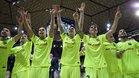 El Barça Lassa, en la celebración del pase a la Final Four