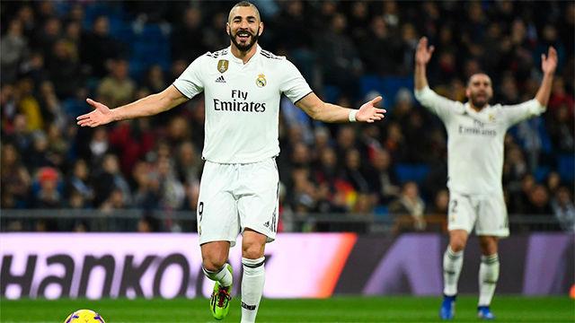 Benzema dio los tres puntos al Madrid ante el Rayo Vallecano