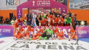 El Burela FS se proclamó campeón de la Copa de la Reina