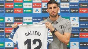 Calleri, durante su presentación como espanyolista.