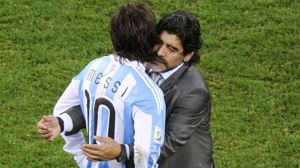 Cuando Messi escuchó a Maradona, y su evolución en los tiros libres