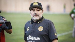 Diego Maradona, técnico de Dorados de Sinaloa