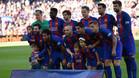 Equipo del FC Barcelona que se enfrentó al Villarreal CF en el último compromiso liguero